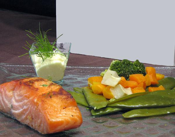 Pavé de saumon demi fumé coupe carrée