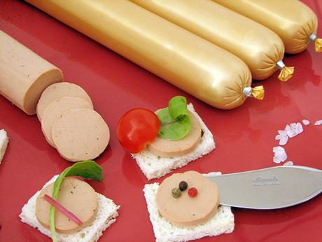 Ficelle prestige de bloc de foie gras de canard mi-cuit (diamètre 2,5 cm)