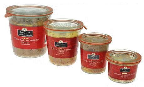 Verrines de foie gras de canard entier – «Weck»