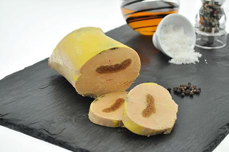 Gourmandise de foie gras de canard mi-cuit et fruit